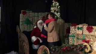 Santa helps with surprise marriage proposal. She asked for an Apple Watch and he asked to marry her!