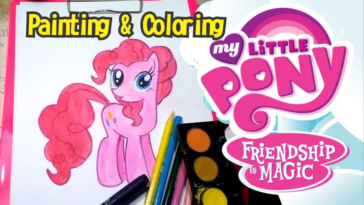 Cara Mengambar Dan Mewarnai Pinkie Pie My Little P Youtube