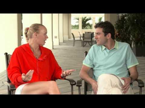 Justin Gimelstob interviews Caroline Wozniacki Part 1   Star Games TV