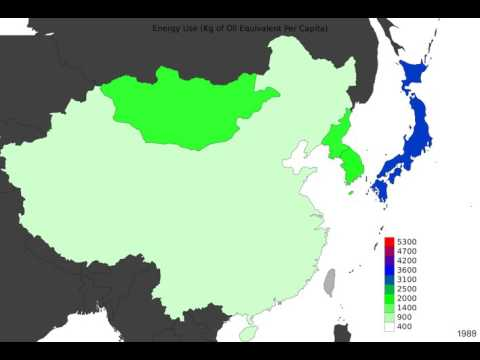 East Asia - Energy Use - Time Lapse