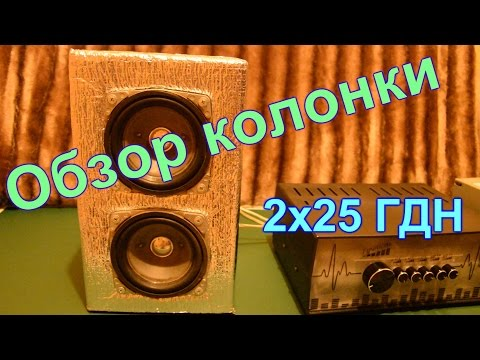 видео: Самодельная колонка,обзор колонки на 2х25 ГДН (колонка с КОМЕТА - 225с2)