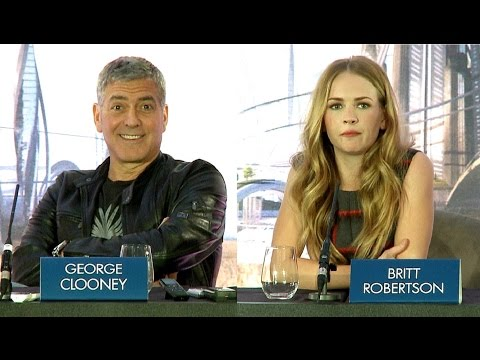 Tomorrowland Press Conference - George Clooney, Brad Bird & Britt Robertson