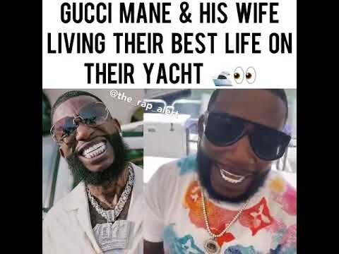 GUCCI MANE AND HIS WIFE LIVING THEIR BEST LIFE ON A YATCH