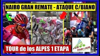 NAIRO Quintana GRAN REMATE 🔥 ATAQUE COLOMBIANO 🌋 TOUR de los ALPES 2021 🔵 RESUMEN 1 ETAPA ✅