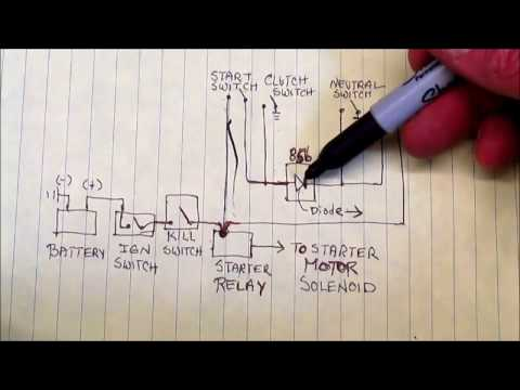 1983 BMW R100RS How To Use Wiring Diagram To Learn About Neutral Switch & Starter