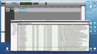 A demonstration of how to use Pro Tools' Workspace to search for so...