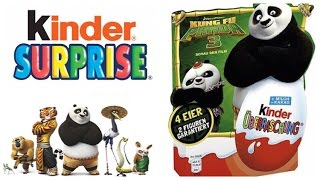Kung Fu Panda 3 Unboxing Kinder Surprise Eggs 4X