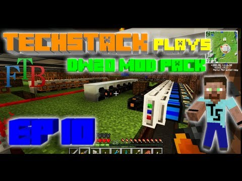FTB- Invading the Enderman Home World and Power Production - Ep10 TechStack Plays DireWolf20 Pack