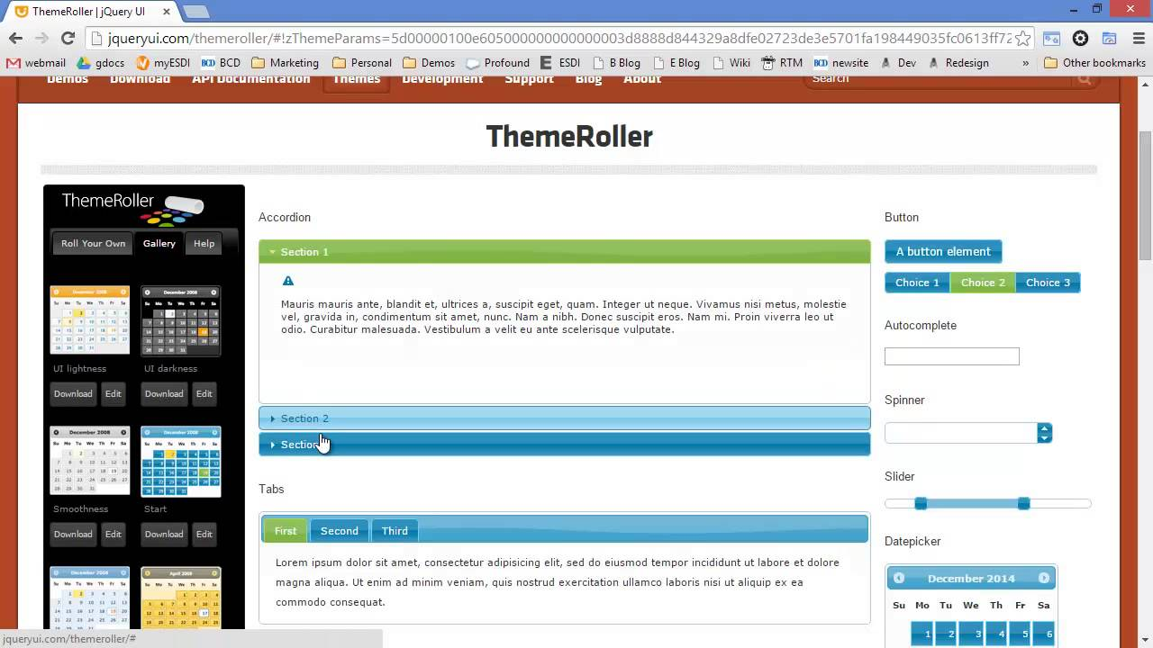 How to Customize a WebSmart Theme Using jQuery UI ThemeRoller