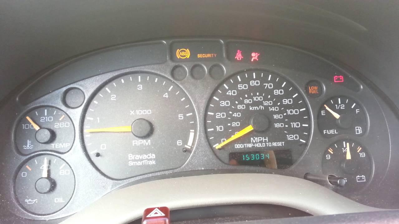 Chevrolet Ignition Wiring Diagram Dash Warning Lights Problem 2000 Oldsmobile Bravada Youtube