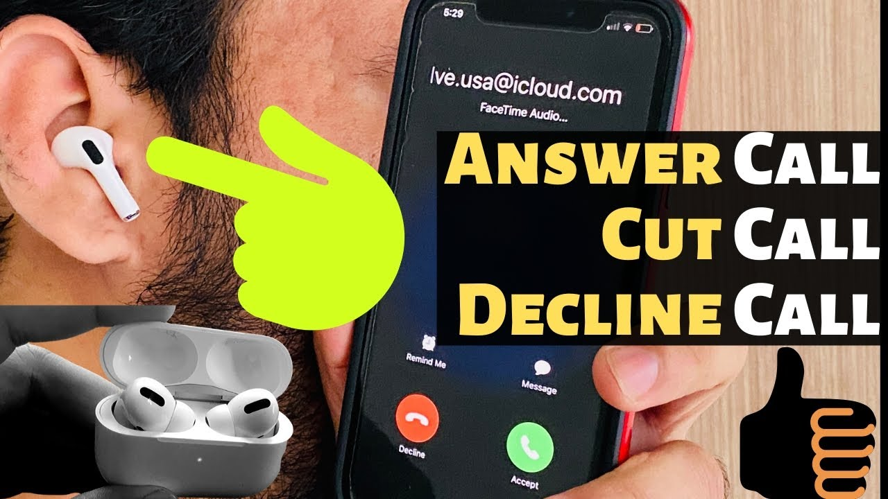 AirPods Pro: Answer Call, Cut and Decline/ ignore Call On ...