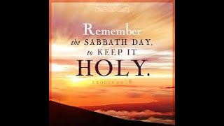 SUN Day Worship Vs. The HOLY Sabbath.