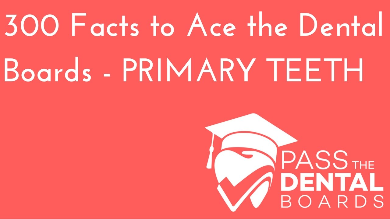 300 Dental Anatomy Facts PART 1- Primary/Deciduous Dentition - NBDE ...