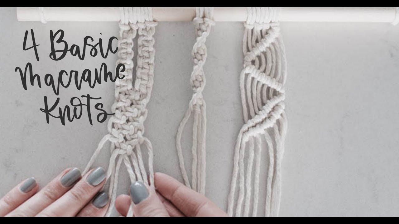 3 Basic Macrame Knots Square Knot Spiral Knot Double
