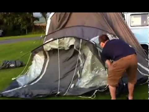 how to put up the campervan awning in 3.5 mins