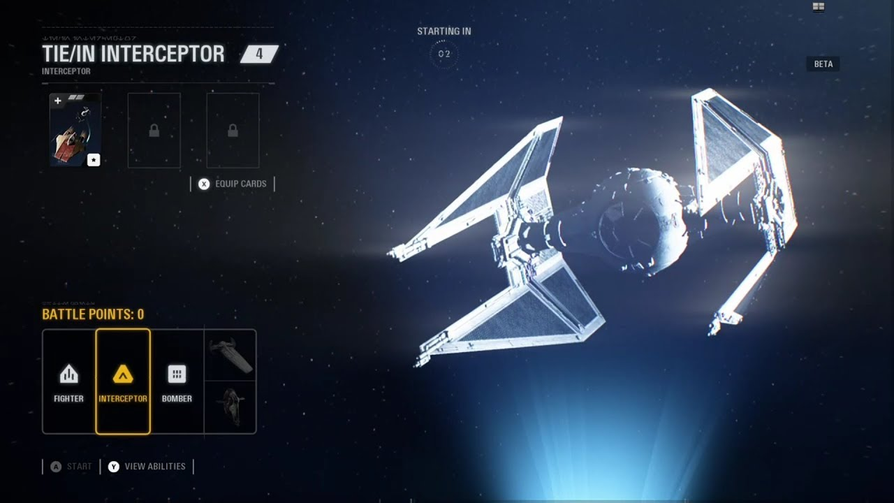 Star Wars Battlefront II Beta   Starfighter-Assault   TIE/IN INTERCEPTOR Gameplay.