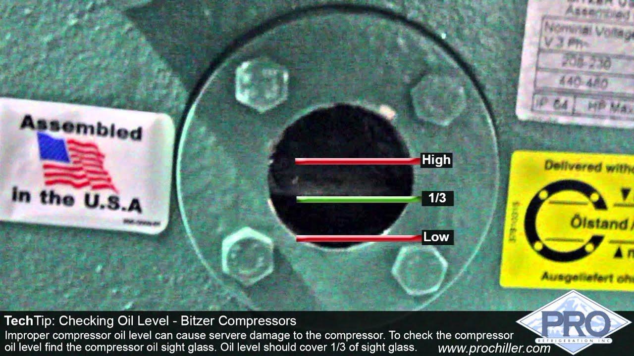 Kết quả hình ảnh cho air compressor oil level
