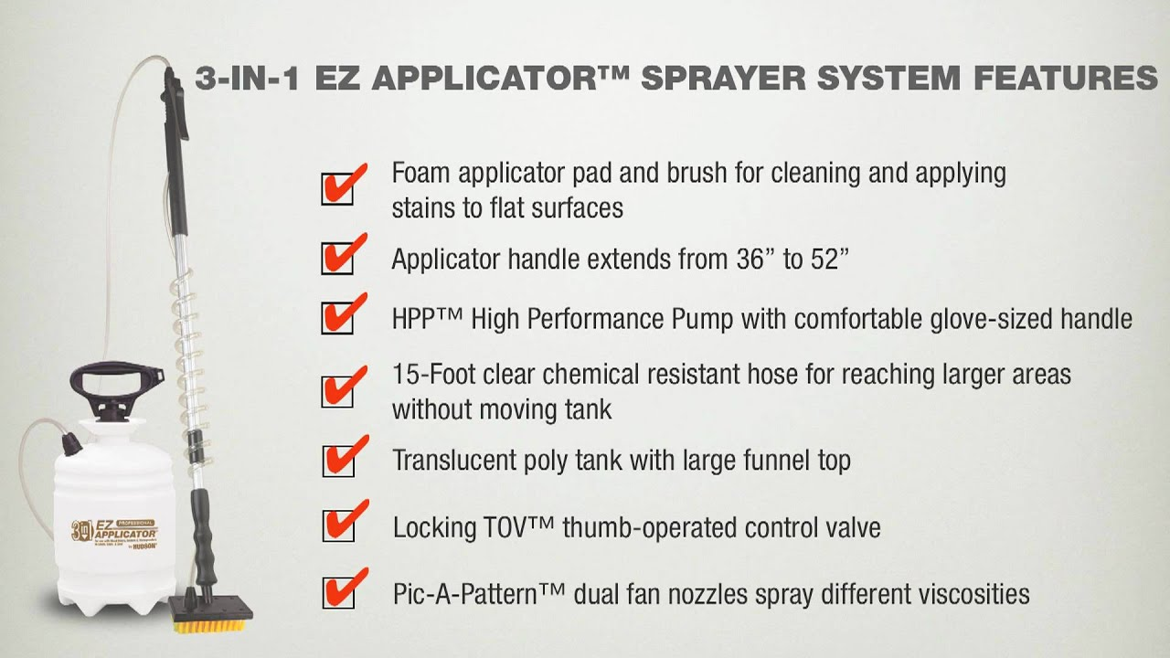 Hudson 3 In 1 Ez Licator Deck And Fence Sprayer System Video Overview Hd