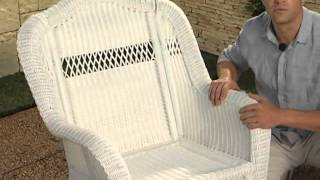 Casco Bay Resin Wicker Rocking Chair - Product Review Video