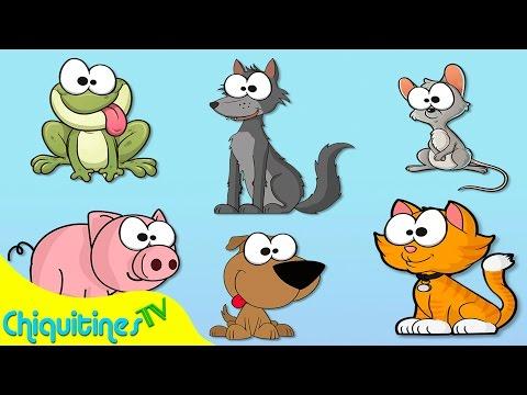 El Sonido de los Animales - Canción Infantil - aprende los animales - animación para niños