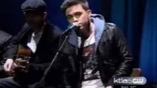 Jesse McCartney sings acoustic  How  Do  You  Sleep on KTLA Los Angeles TV Live