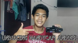 UNBOXING HANDYCAM ANDOER HDV-312P