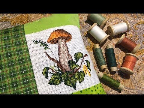 Прикладная ВЫШИВКА подушка грибочек от Жар-птица / шью подушку / подбор ткани