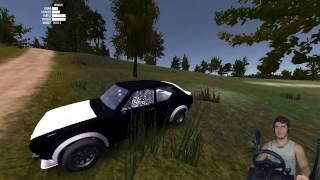НАВАЛИЛ НА КОРЧЕ ПО ЛЕСУ - My Summer Car + РУЛЬ Logitech Driving Force GT