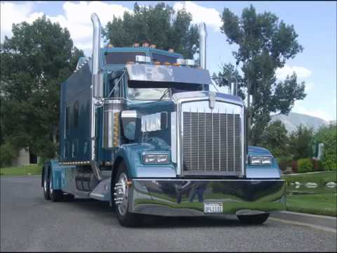 kenworth w900l custom aero i sleeper - custom semi truck - youtube