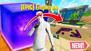 Fake Epic Employee TELLS ME EVERYTHING ABOUT THE CUBE (Surprising!) in Fortnite