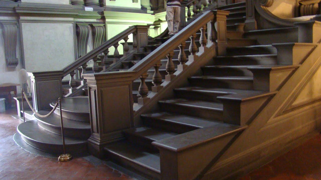 escalera de acceso a la biblioteca laurenciana youtube