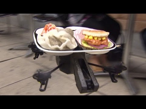 Flying Fish Sushi Delivered By Drone