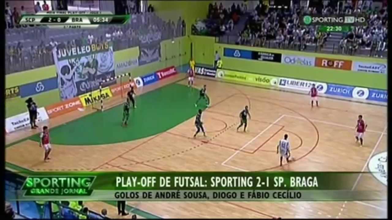 Futsal :: Play-off 1/2 Final 1º Jogo :: Sporting - 2 x Braga - 1 de 2014/2015