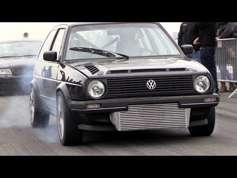 736HP Golf 2 VR6 Turbo 4Motion – FAST 0-270 km/h Accelerations!!