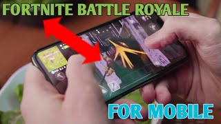 Fortnite Battle Royale - Mobile Reveal Trailer | IGN | RED X |