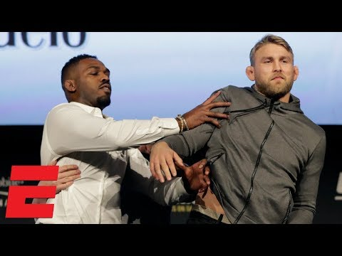 Jon Jones and Alexander Gustafsson get into shoving match at UFC 232 presser | MMA Sound