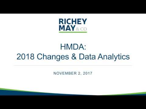 HMDA: 2018 Changes and Data Analytics