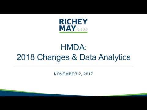 HMDA: 2018 Changes And Data Analytics