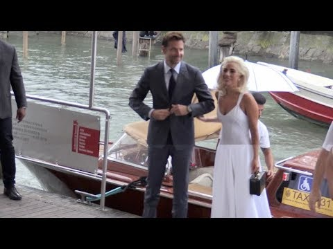 Lady Gaga and Bradley Cooper arrive in Venice for the Film Festival 2018
