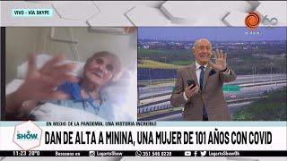 Dan de alta a Minina, una mujer de 101 años con Covid