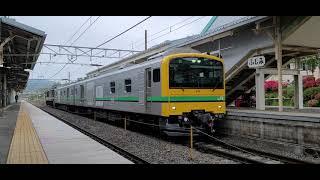 【クモヤE493系+EF64 1052】中央東線 富士見駅 発車