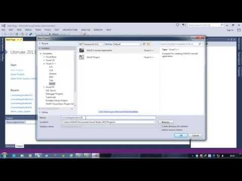 Hướng dẫn tạo Project mới trong Visual Studio 2013