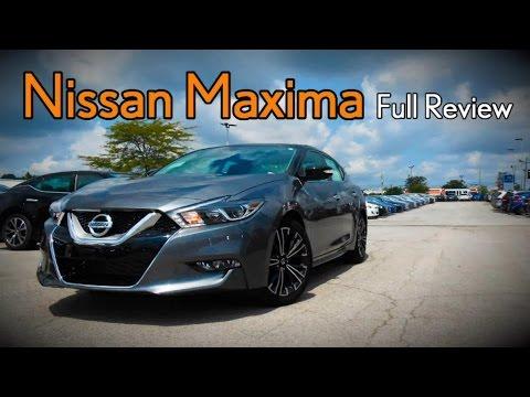 2017 Nissan Maxima: Full Review | S, SV, SL, SR, SR Midnight & Platinum