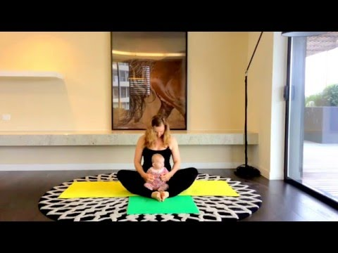 Yoga class mother and baby