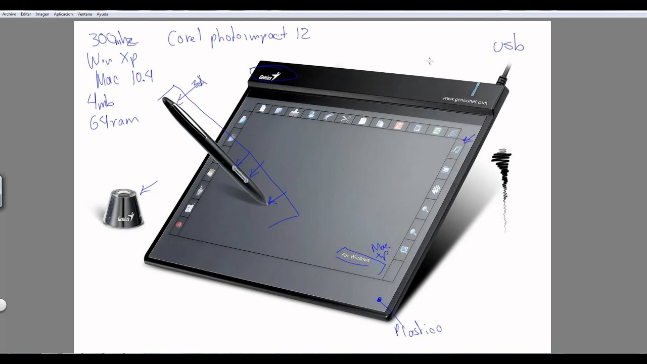 Tableta Digitalizadora Genus G Pen F509 Youtube