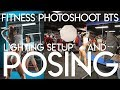 Model Posing | Fitness Photography Lighting | BTS