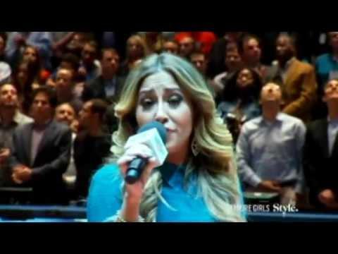 Empire Girls: Adrienne Bailon performs the USA National Anthem