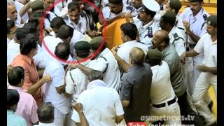 Shameful Kerala assembly protest by LDF MLAs, against KM Mani