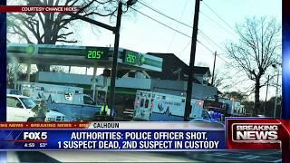 Calhoun officer shot