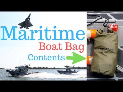 Maritime Boat Bag full contents